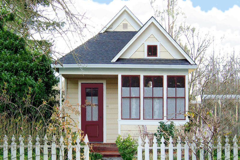 Cottage Style House Plan - 1 Beds 1 Baths 310 Sq/Ft Plan #915-7