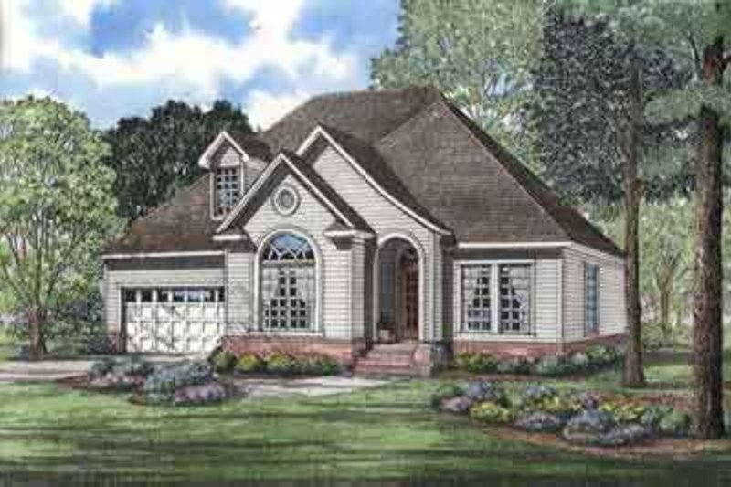 Home Plan - Traditional Exterior - Front Elevation Plan #17-2195