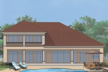 Home Plan - Mediterranean Exterior - Rear Elevation Plan #930-471