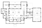 Country Style House Plan - 4 Beds 4.5 Baths 4729 Sq/Ft Plan #928-284 Floor Plan - Main Floor Plan