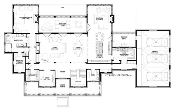 Country Floor Plan - Main Floor Plan Plan #928-284