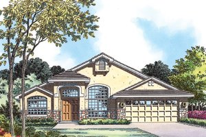 Mediterranean Exterior - Front Elevation Plan #417-819