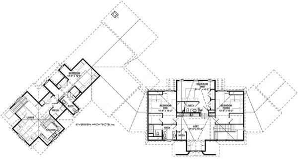 Craftsman Floor Plan - Upper Floor Plan Plan #928-292