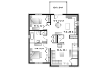 Contemporary Floor Plan - Upper Floor Plan Plan #23-2595