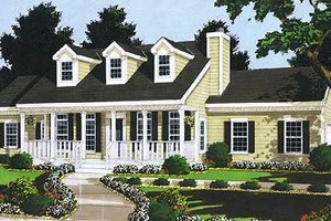 House Plan Design - Traditional Exterior - Front Elevation Plan #3-111