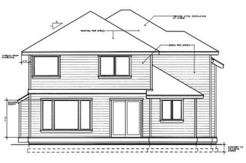 Traditional Exterior - Rear Elevation Plan #94-208 - Houseplans.com