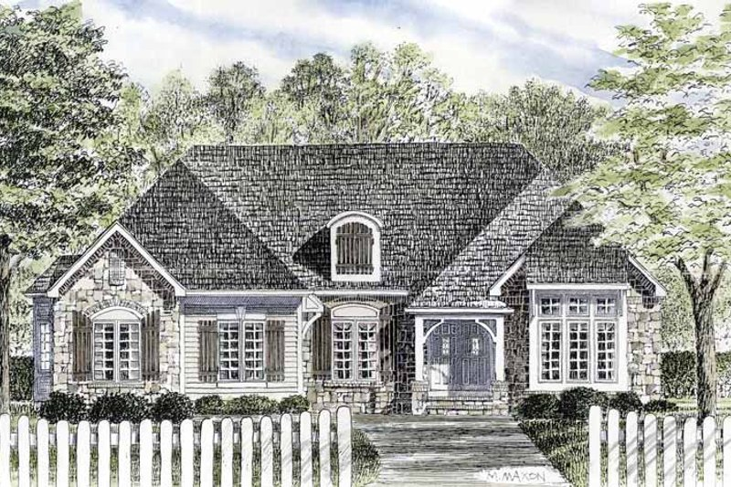 Cottage Exterior - Front Elevation Plan #316-267