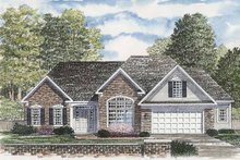 Ranch Exterior - Front Elevation Plan #316-247