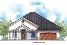 House Plan Design - Mediterranean Exterior - Front Elevation Plan #938-61