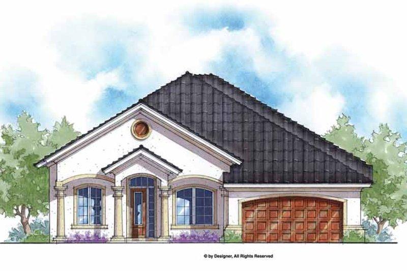 House Plan Design - Mediterranean Exterior - Front Elevation Plan #938-61