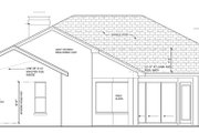Mediterranean Style House Plan - 4 Beds 3 Baths 2414 Sq/Ft Plan #1058-45 Exterior - Rear Elevation