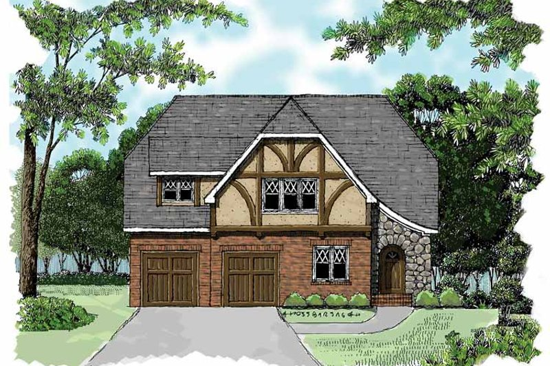 Tudor Exterior - Front Elevation Plan #413-899