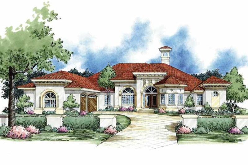Mediterranean Exterior - Front Elevation Plan #930-61 - Houseplans.com