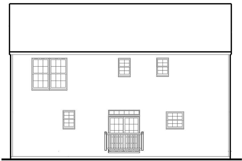 Traditional Exterior - Rear Elevation Plan #1053-76 - Houseplans.com