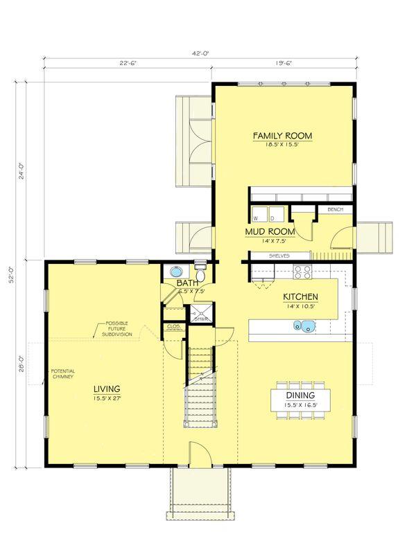 Colonial Floor Plan - Main Floor Plan Plan #903-2