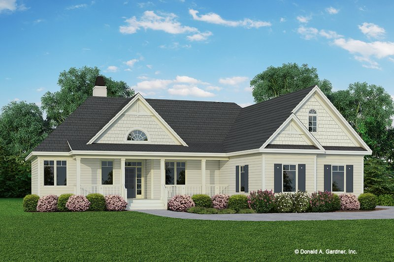 Home Plan - Ranch Exterior - Front Elevation Plan #929-403