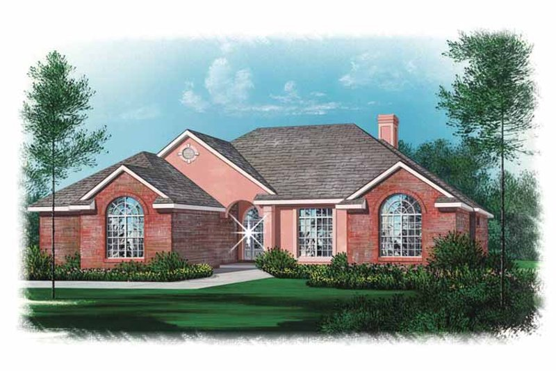 Traditional Exterior - Front Elevation Plan #15-317 - Houseplans.com