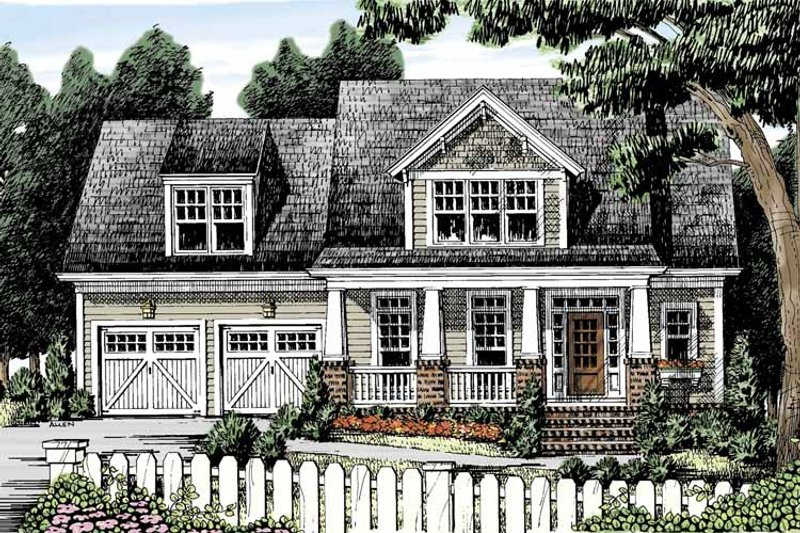 Craftsman Exterior - Front Elevation Plan #927-887 - Houseplans.com