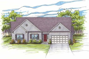 Traditional Exterior - Front Elevation Plan #435-16
