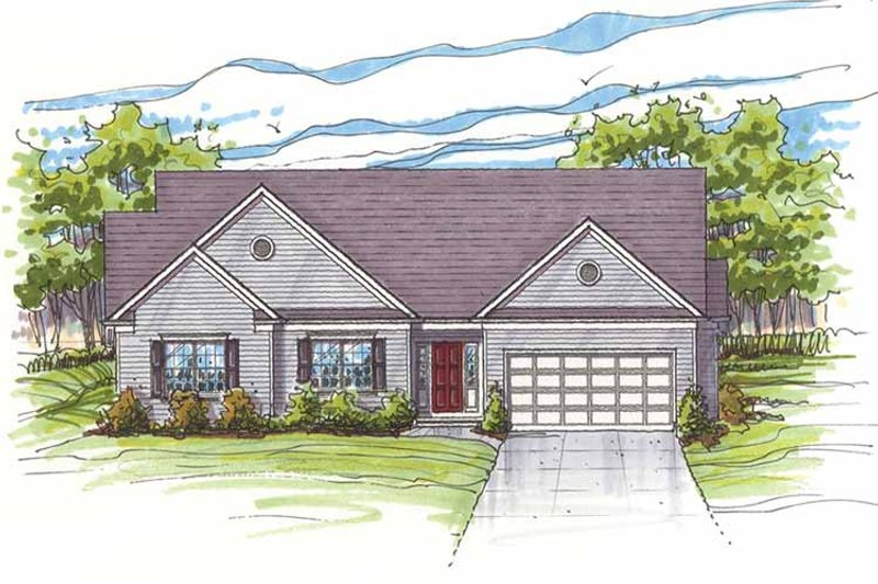 House Plan Design - Traditional Exterior - Front Elevation Plan #435-16