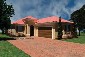 Mediterranean Exterior - Front Elevation Plan #930-424