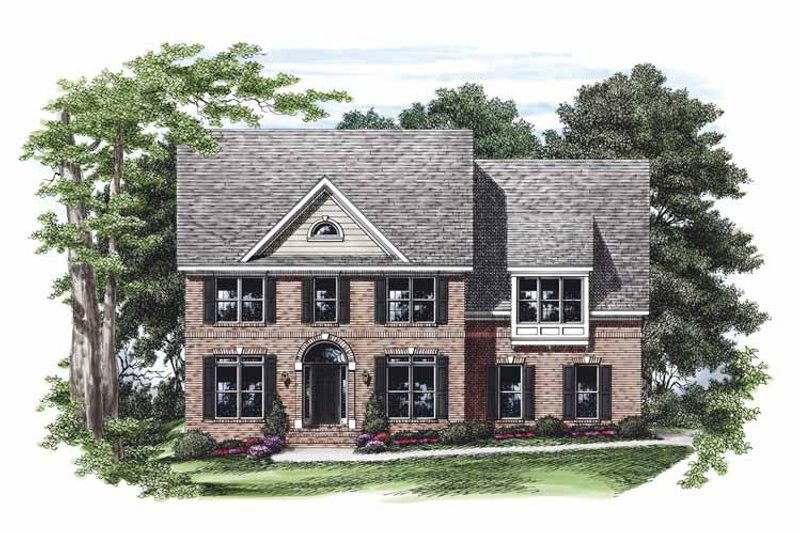 Colonial Exterior - Front Elevation Plan #927-470