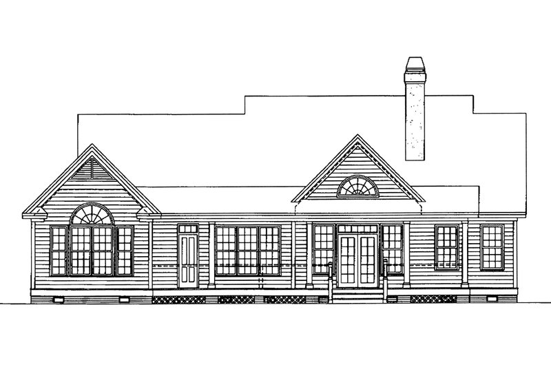 Country Exterior - Rear Elevation Plan #929-11 - Houseplans.com