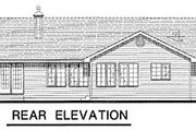 Ranch Style House Plan - 3 Beds 2 Baths 1818 Sq/Ft Plan #18-185 Exterior - Rear Elevation