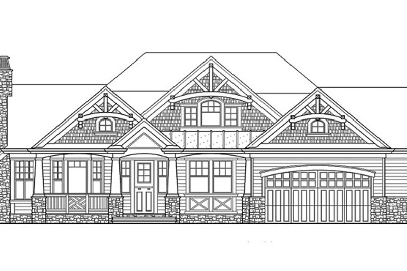 Traditional Exterior - Front Elevation Plan #132-542 - Houseplans.com