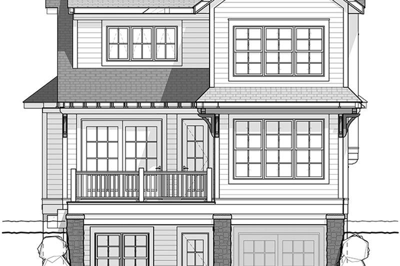 Traditional Exterior - Rear Elevation Plan #928-286 - Houseplans.com