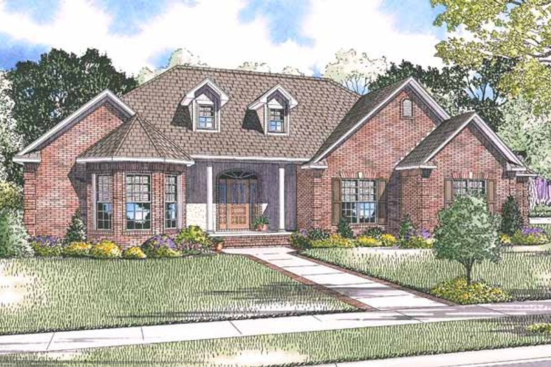 Country Exterior - Front Elevation Plan #17-2915 - Houseplans.com