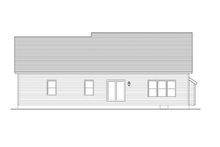 Ranch Exterior - Rear Elevation Plan #1010-30