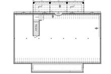 Colonial Floor Plan - Lower Floor Plan Plan #21-431
