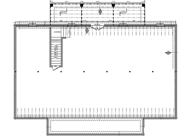 Architectural House Design - Colonial Floor Plan - Lower Floor Plan #21-431