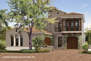 Dream House Plan - Mediterranean Exterior - Front Elevation Plan #930-489