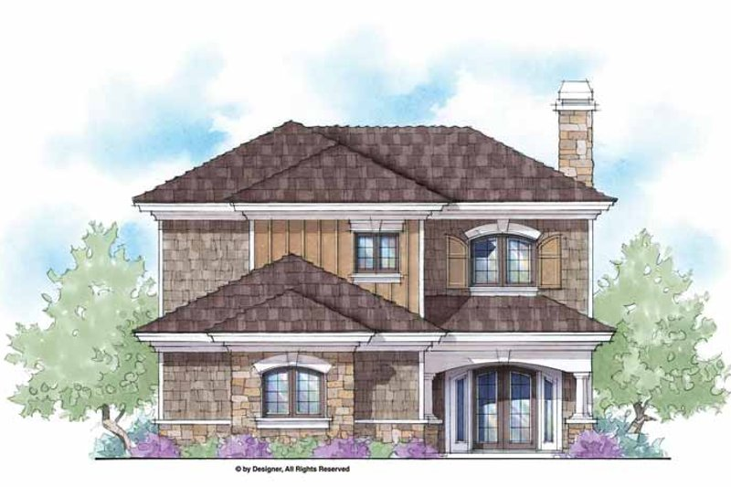 Country Exterior - Front Elevation Plan #938-44