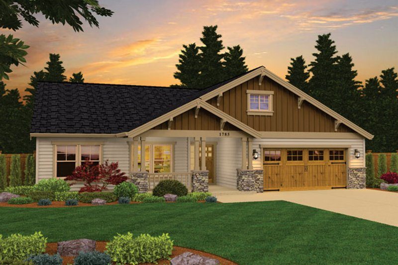 Architectural House Design - Craftsman Exterior - Front Elevation Plan #943-43