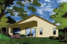 House Plan Design - Country Exterior - Rear Elevation Plan #1015-26