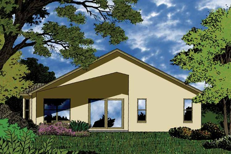 Country Exterior - Rear Elevation Plan #1015-26 - Houseplans.com