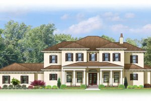 Architectural House Design - Mediterranean Exterior - Front Elevation Plan #1058-86