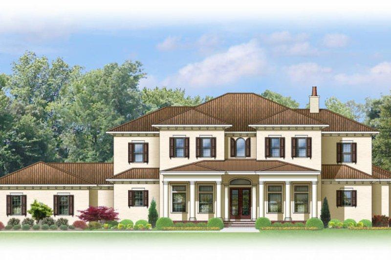 Architectural House Design - Mediterranean Exterior - Front Elevation Plan #1058-86