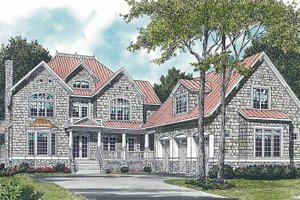 Craftsman Exterior - Front Elevation Plan #453-257
