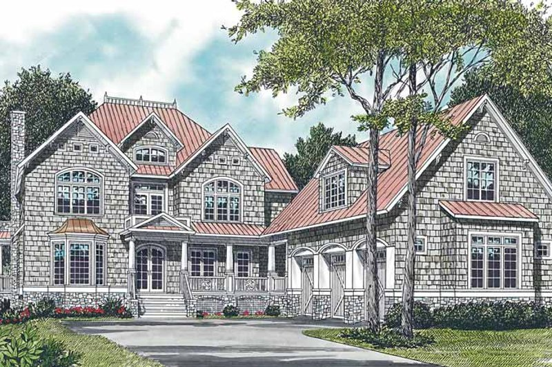 Craftsman Exterior - Front Elevation Plan #453-257