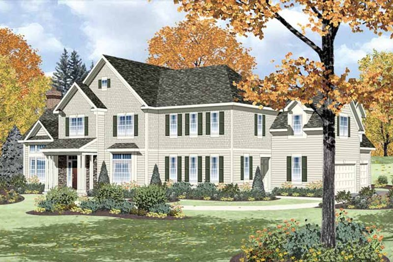 Traditional Exterior - Front Elevation Plan #328-457