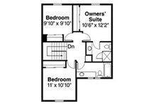 Contemporary Floor Plan - Upper Floor Plan Plan #124-804