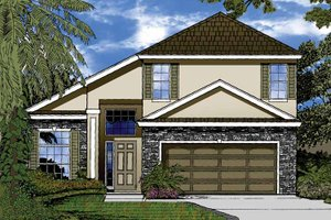 Architectural House Design - Contemporary Exterior - Front Elevation Plan #1015-45