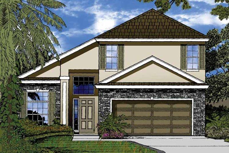 Contemporary Exterior - Front Elevation Plan #1015-45 - Houseplans.com