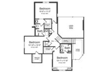 Country Floor Plan - Upper Floor Plan Plan #46-856