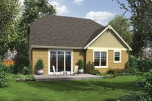 Craftsman Exterior - Rear Elevation Plan #48-901