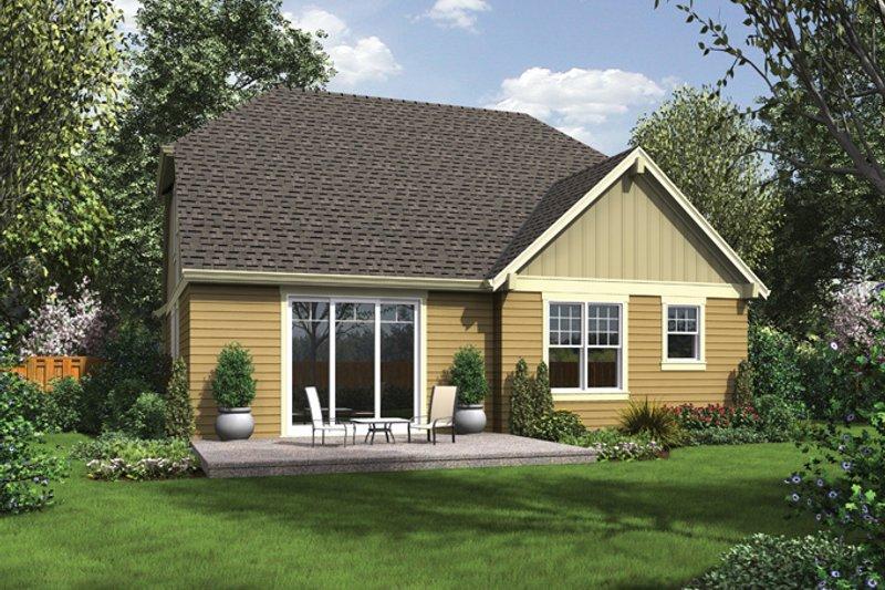 Craftsman Exterior - Rear Elevation Plan #48-901 - Houseplans.com
